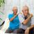 zoon · ouderen · vader · lopen · naast - stockfoto © yongtick