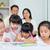 hijo · de · padre · dibujo · salón · casa · sesión · familia - foto stock © yongtick