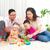 アジア · 家族 · 演奏 · おもちゃ · 男 · 幸せ - ストックフォト © yongtick