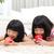アジア · 子供 · 女の子 · 食べ · リンゴ · 笑顔 - ストックフォト © yongtick