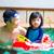 アジア · 家族 · 泳ぐ · 管 · 演奏 · スイミングプール - ストックフォト © yongtick