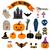 halloween · retro · ícones · vetor · símbolos - foto stock © yopixart