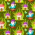 forest mushroom home and gnomes seamless pattern stock photo © yopixart