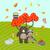 forest animals on autumn meadow vector illustration stock photo © yopixart