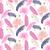 pink banana palm leaves purple seamless vector pattern stock photo © yopixart