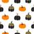 végtelen · minta · narancs · tökök · fekete · absztrakt · művészet - stock fotó © yopixart