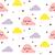 свет · розовый · ребенка · облака · бесшовный · вектора - Сток-фото © yopixart