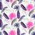 pink and blue banana palm leaves seamless vector pattern stock photo © yopixart