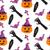 Halloween witch pumpkin vector seamless pattern. stock photo © yopixart