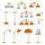 interior lamp vector icon set stock photo © yopixart