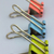Three color clips for papers stock photo © yul30