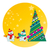 снеговик · рождественская · елка · карт · дизайна · льда · зеленый - Сток-фото © yulia_mayevska