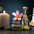 spa concept in dark background with ambient lights cold stone stock photo © yuliang11