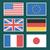 europeu · bandeiras · ícones · coleção · branco - foto stock © yuriytsirkunov
