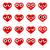 ícones · coração · ilustração · formato · eps · 10 - foto stock © yuriytsirkunov