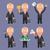 grijs · pak · zakenman · geld · ingesteld - stockfoto © yuriytsirkunov