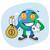 terra · saco · dinheiro · mascote · bola - foto stock © yuriytsirkunov