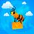 cidade · abelha · carteiro · carta · ilustração · formato - foto stock © yuriytsirkunov