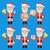 kerstman · mascotte · cartoon · glimlach · gelukkig · medische - stockfoto © yuriytsirkunov