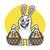 easter bunny holds two baskets with eggs stock photo © yuriytsirkunov