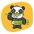 panda · cartoon · jedzenie · bambusa · uśmiech · zielone - zdjęcia stock © yuriytsirkunov