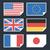 világ · zászlók · ikonok · gyűjtemény · absztrakt · vektor - stock fotó © yuriytsirkunov