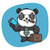 panda · koffer · telefoon · formaat · eps · 10 - stockfoto © yuriytsirkunov
