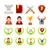 set of icons on theme game stock photo © yuriytsirkunov