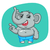 desen · animat · drăguţ · amuzant · elefant · vector · eps - imagine de stoc © yuriytsirkunov