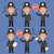 english policeman holds weapons and stop sign stock photo © yuriytsirkunov