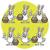 easter bunny holding egg and basket set characters stock photo © yuriytsirkunov