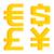 иена · доллара · евро · признаков · изолированный · знак - Сток-фото © yuriytsirkunov