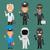 異なる · 職業 · 科学 · 警察 · ガード - ストックフォト © yuriytsirkunov