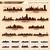 ufuk · çizgisi · şehir · ayarlamak · 10 · şehirler · ABD - stok fotoğraf © yurkaimmortal