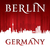 berlin germany city skyline silhouette red background stock photo © yurkaimmortal
