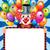 cartoon · clown · ballonnen · gelukkig · bos · partij - stockfoto © yurkina