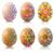 szett · vektor · húsvéti · tojások · húsvét · tojás · piros - stock fotó © yurkina