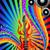music background with guitar and rainbow stock photo © yurkina