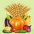 harvest vegetables ear pumpkin cucumber tomato stock photo © yurkina