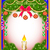 new years background with a candle and fir branches stock photo © yurkina