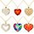 set of pendants pendant with precious stones in the form of hea stock photo © yurkina