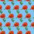 illustration seamless background of poppies on a blue stock photo © yurkina