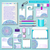 corporativo · identidade · modelo · projeto · azul · cor - foto stock © yurkina