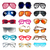 set of sunglasses and eyeglasses for vision correction stock photo © yurkina
