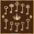 set of vintage gold keys stock photo © yurkina