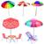 illustration · rouge · parasol · blanche · pluie · été - photo stock © yurkina