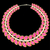 womans necklace with pink jewels on black stock photo © yurkina