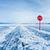 sinal · de · parada · enterrado · neve · assinar · branco · pare - foto stock © zastavkin