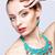 güzel · sarışın · kadın · bijuteri · gri · kadın · model - stok fotoğraf © zastavkin