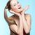 веснушчатый · девушки · красное · платье · красивой · синий - Сток-фото © zastavkin